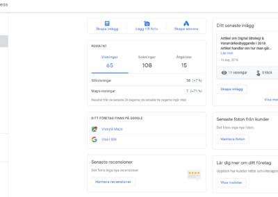 Synas på Google helt kostnadsfritt med Google My Business