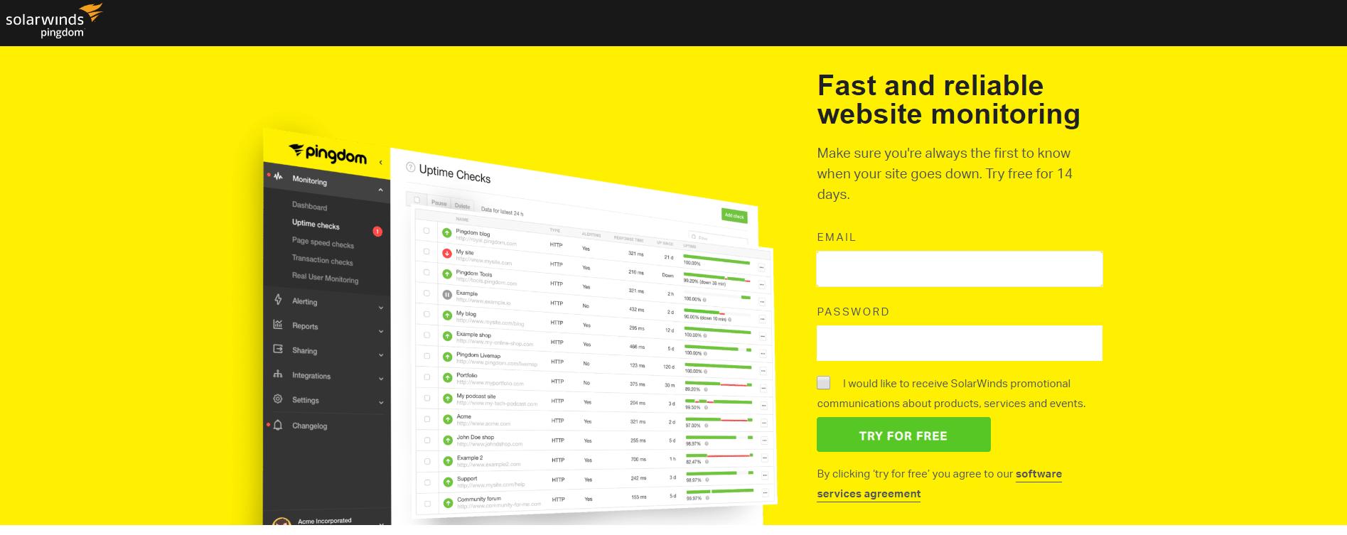 Bästa övervakningstjänsterna för din webbplats